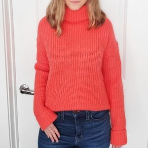 Caslon NWT Coral Rose Turtleneck Pullover Sweater